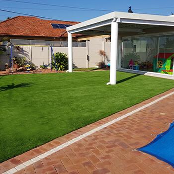 Artificial Grass Back Garden After Umhlanga