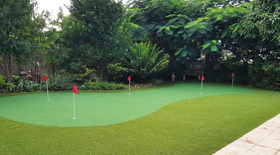 Artificial Grass Back Garden Putting Green Umhlanga