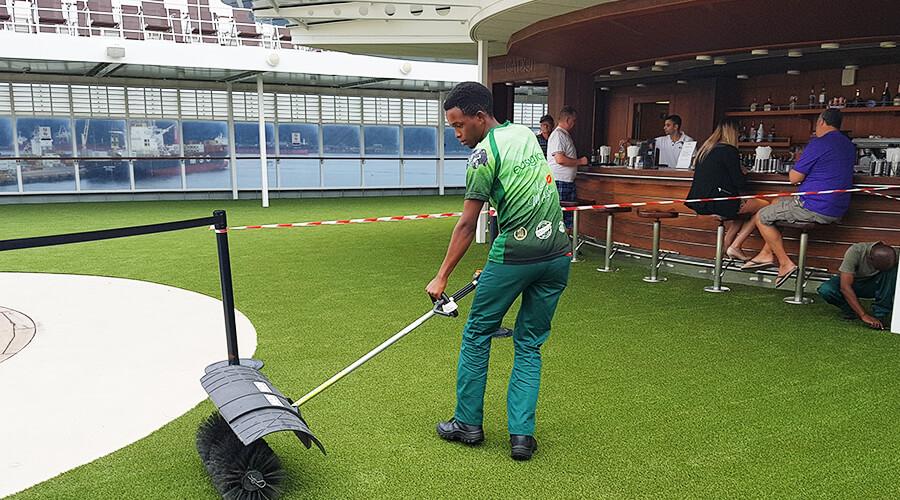 Artificial Grass Maintenance Brushing Umhlanga