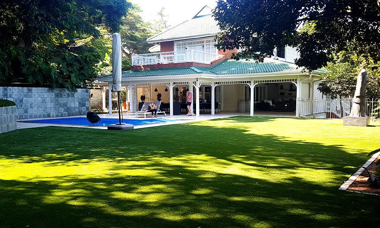 Artificial Grass White House Backyard Easigrass Umhlanga