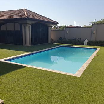 Artificial Grass Garden Pool Area Easigrass Umhlanga