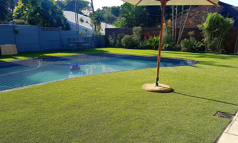 Pool Area With New Easigrass Artificial Lawn